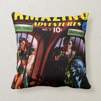 Amazing Adventures #2 Retro Sci Fi Comic Book Cushion