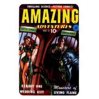 Amazing Adventures #2 Retro Sci Fi Comic Book Rectangular Photo Magnet