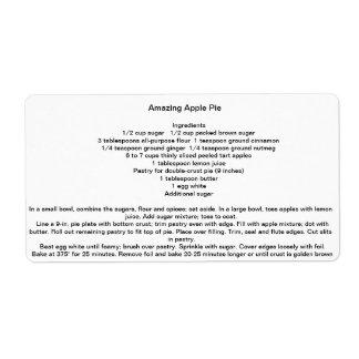 Amazing Apple Pie Shipping Label