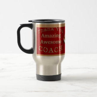 Amazing Awesome Hockey Coach Gifts or Coach's NAME Stainless Steel Travel Mug