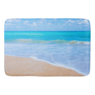 Amazing Beach Tropical Scene Photo Bath Mat