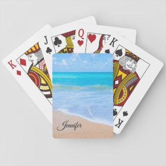Amazing Beach Tropical Scene Photo Custom Playing Cards