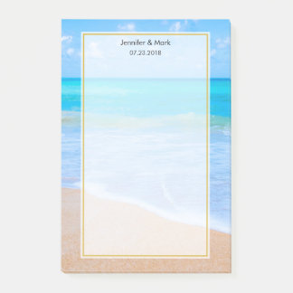 Amazing Beach Tropical Scene Photo Wedding Post-it Notes