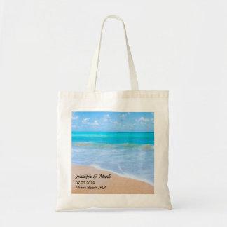 Amazing Beach Tropical Scene Wedding Tote Bag