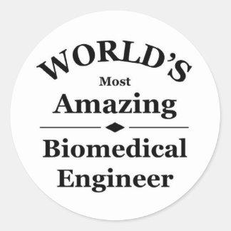 Amazing Biomedical Engineer Round Stickers