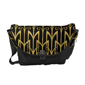 Amazing Black-Gold Art Deco Design Commuter Bag