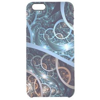 Amazing Blue Fractal Art Clear iPhone 6 Plus Case