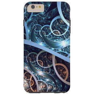 Amazing Blue Fractal Art Tough iPhone 6 Plus Case