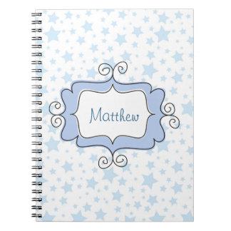 Amazing Blue Stars Notebooks