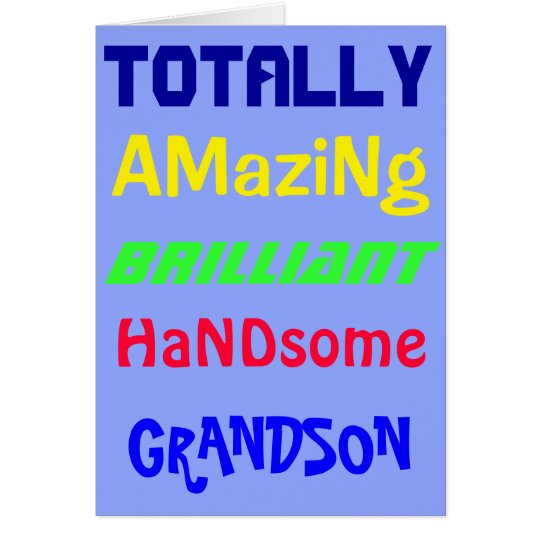 Amazing Brilliant Handsome - Personalised Birthday Card