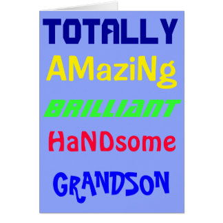 Amazing Brilliant Handsome - Personalized Birthday Greeting Card