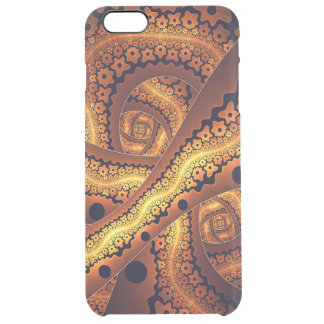 Amazing Brown Abstract Fractal Art Clear iPhone 6 Plus Case