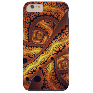 Amazing Brown Abstract Fractal Art Tough iPhone 6 Plus Case