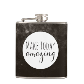 Amazing | Brown Texture Hip Flask