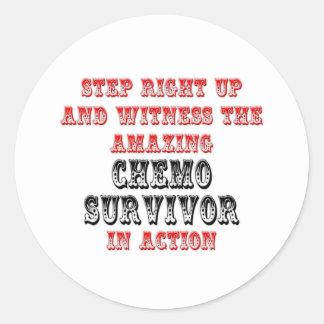 Amazing Chemo Survivor In Action Round Sticker