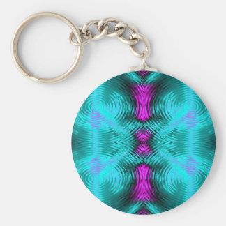 amazing circles basic round button key ring
