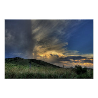 Amazing Clouds Over Colorado Foothills Art Poster