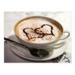 Amazing coffee photo postcards