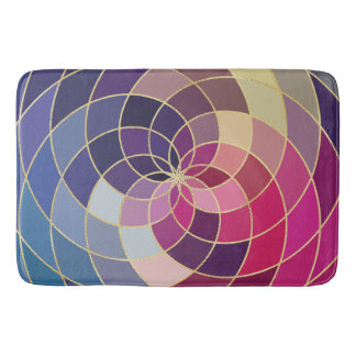 Amazing Colorful Abstract Design Bath Mat