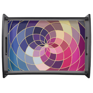 Amazing Colorful Abstract Design Serving Tray