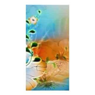 Amazing, colorful flowers picture card