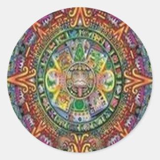 Amazing crystal weave design round sticker