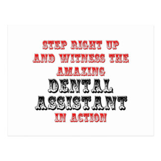 Amazing Dental Assistant In Action Postcards