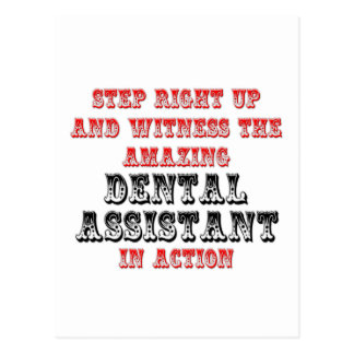 Amazing Dental Assistant In Action Postcard
