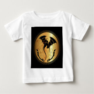 Amazing dragon in gold and black infant T-Shirt