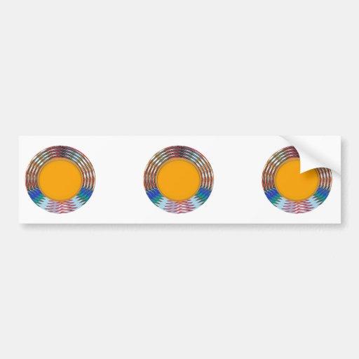 Amazing EMBLEM type DISC Golden DISK n BORDER Bumper Sticker