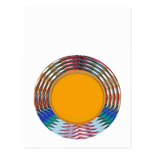 Amazing EMBLEM type DISC Golden DISK n BORDER Post Cards
