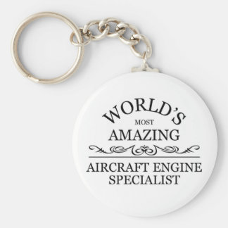 Amazing Engine Aircraft Specialist Keychains