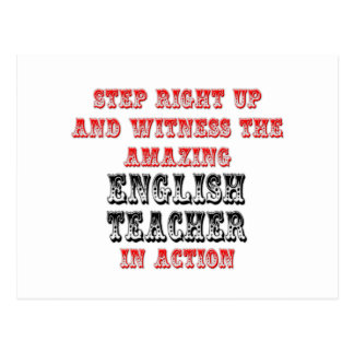 Amazing English Teacher In Action Postcard