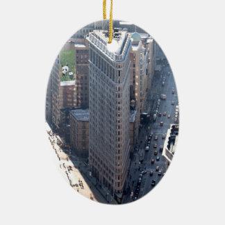 Amazing! Flatiron Building New York City Ceramic Oval Decoration