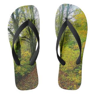 Amazing Forest Print Flip Flops