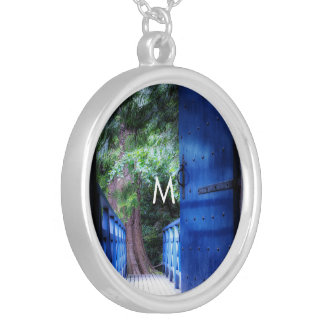 Amazing fresh nature colourful design custom art silver plated necklace