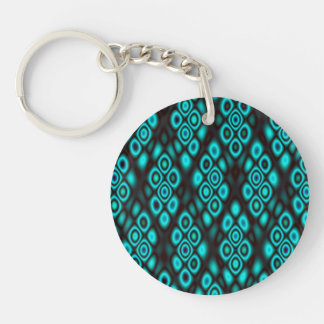 Amazing glowing abstract circles Single-Sided round acrylic key ring