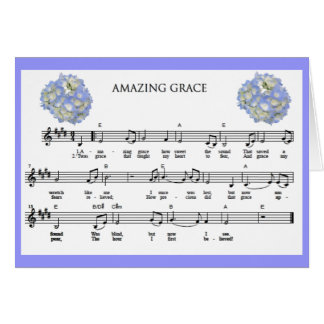 """Amazing Grace"" Blank Notecard"