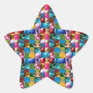 Amazing Grace: BORDER FRAME GEM PEARL JEWELS Star Sticker