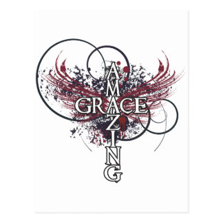 Amazing grace Christian cross Postcard