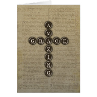 Amazing Grace Cross Sympathy With Verse Card