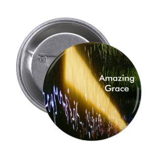 Amazing Grace: Enjoy and share the joy. 6 Cm Round Badge