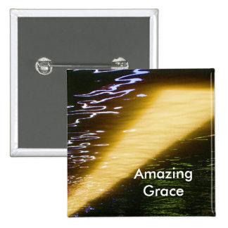 Amazing Grace: Enjoy and share the joy. 15 Cm Square Badge