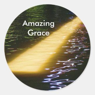 Amazing Grace: Enjoy and share the joy. Round Sticker