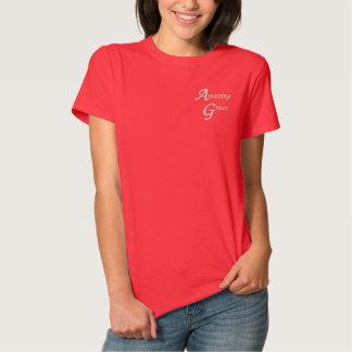 Amazing Grace Inspirational Faith Embroidered Shirt
