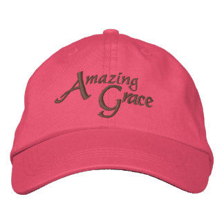 Amazing Grace Inspirational Hymn of Faith Embroidered Hats