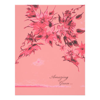 Amazing Grace Pink Ink Floral Flyer