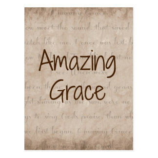 Amazing Grace Postcard