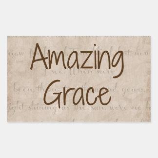 Amazing Grace Rectangular Sticker