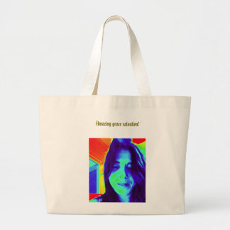 Amazing grace salvation! large tote bag